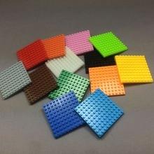 10pcs Mini Blocks Base Plate 10x10 Dots Size 4x4 cm DIY Baseplate Compatible with Loz Mini Building Bricks Plates