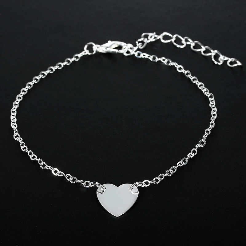 Pulseras de cadena de corazón de moda para mujer accesorios de joyería de marca de plata Pulsera de mujer y brazaletes pulseras de mujer brazaletes Gif