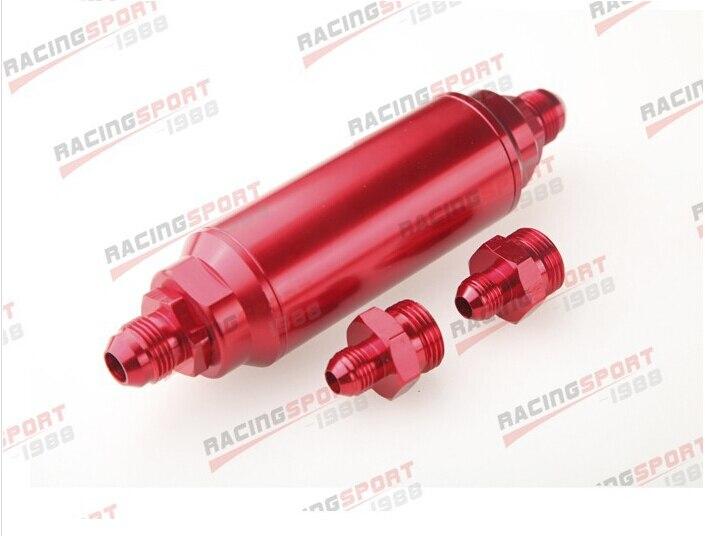 AN 8 AN8 красный анодированный Заготовка топливный фильтр 40 микрон FF 2524