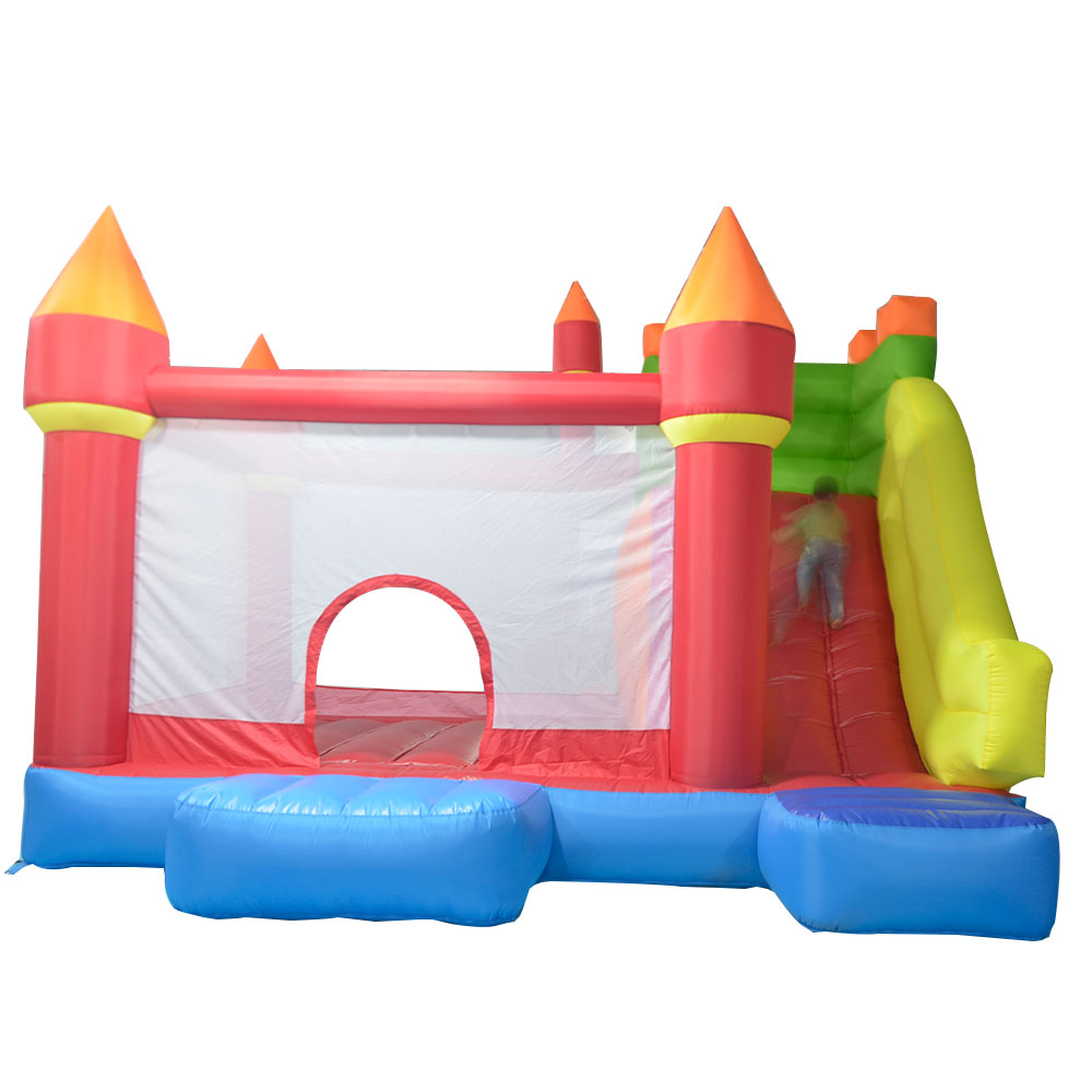YARD Inflatable Giant Bouncer with Slide Inflatable Bouncy Castle for Children Sent with Free Ocean Balls for Kids inflatable slide with dual lanes pvc inflatable slide red giant inflatble bouncer