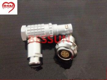 Lemo 0B 5pin connector plug , FHG.0B.305 ECG.0B.305,  90 degree elbow plug,plugMedical connector plug 5 pin,