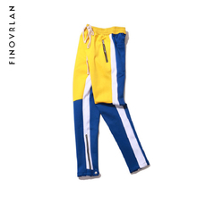 new Color Block Patchwork Harem Pants Joggers Mens 2018 Spring Hip Hop Casual Track Pants Fashion Streetwear Trousers