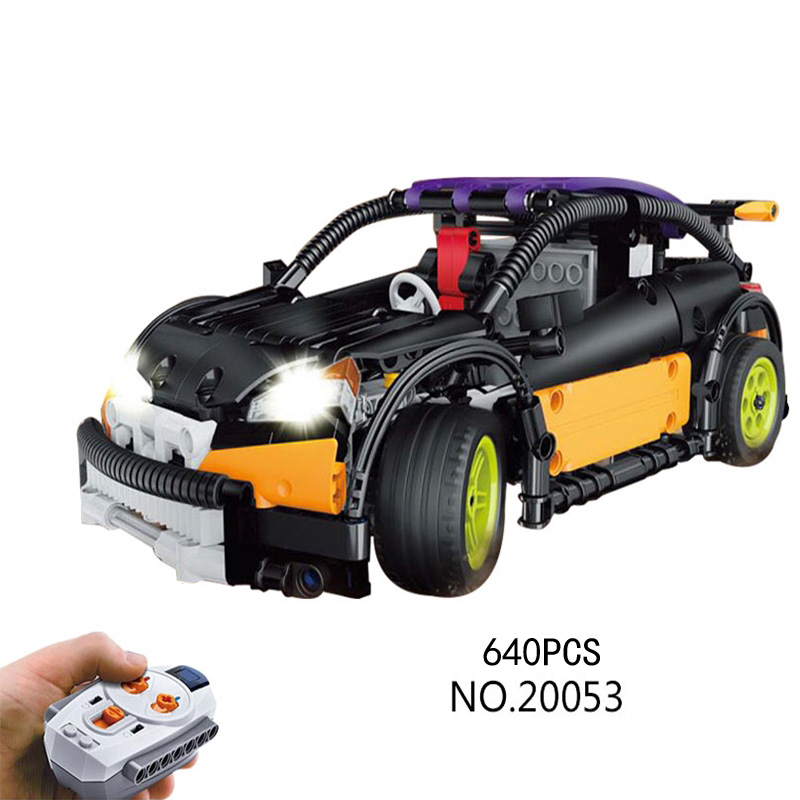 Technican Technics radio remote control Hatchback super sport car ford focus st MOC building block model brick rc toy collection technican technic 2 4ghz radio remote control flatbed trailer moc building block truck model brick educational rc toy with light