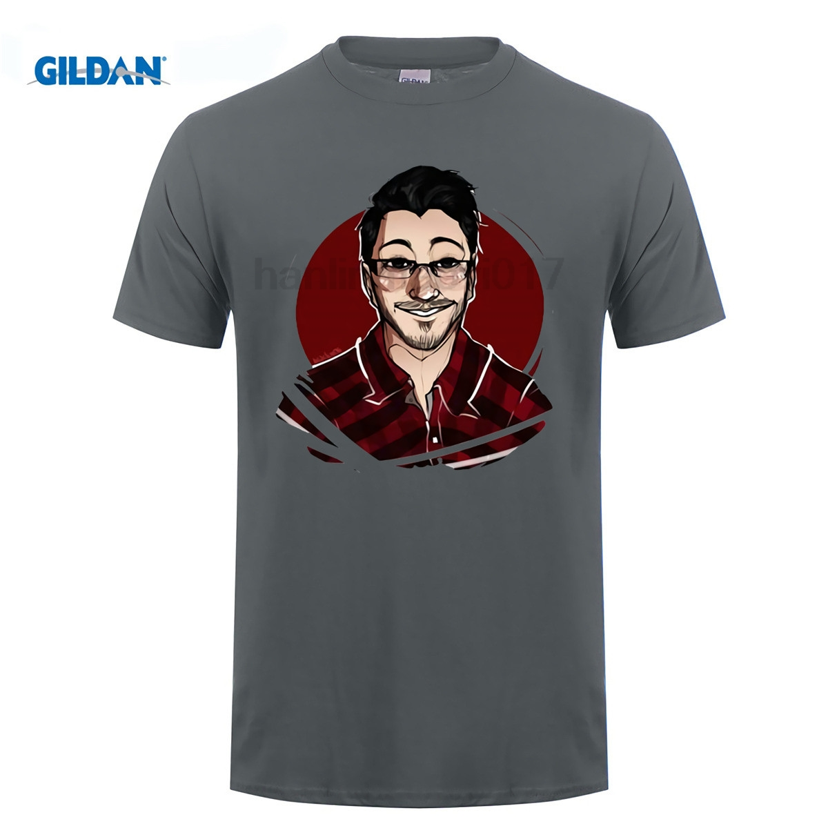 GILDAN video game t shirts Funny Teenage Markiplier and Jacksepticeye Printed T-shirts Boy Soft Tshirt