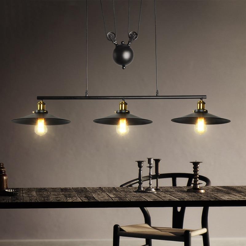 где купить vintage loft retro lamps lights umbels restaurant living room dining room bar cafe pub club office hall chandelier pendant lamp по лучшей цене