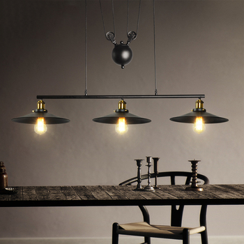 цена vintage loft retro lamps lights umbels restaurant living room dining room bar cafe pub club office hall chandelier pendant lamp онлайн в 2017 году