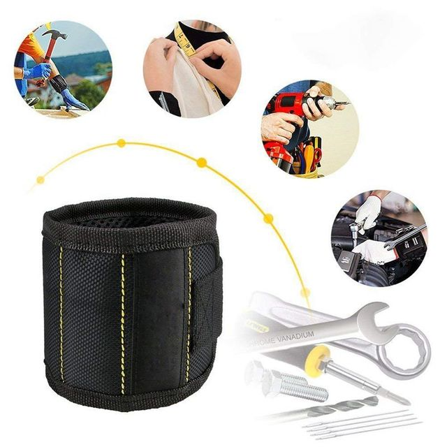 Magnetic Wristband with Strong Magnets DIY Men Gifts for Screws Nails Bolts Drill Bits Fasteners Scissors