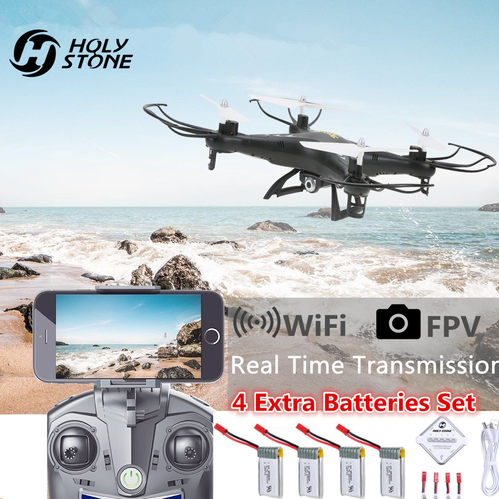 Holy Stone HS110 FPV RC Drone with Camera RC Helicopter 720P HD Live Video WiFi 2.4GHz 4CH 6-Axis Gyro Altitude Hold Quadcopter syma x14w fpv drone with built in camera hd live video headless mode 2 4g 4ch 6 axis gyro rc quadcopter with altitude hold