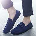 Plus Size 39-46 Men Shoes Winter Suede Leather Men Loafers Brand Causal Men Flats Male Moccasins Slip-on Mens Driving Shoes