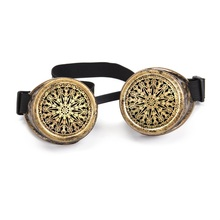 Kaleidoscope Goggles Silver Old Gold Frame Steampunk Goggles Rave Festival Party Glasses Cosplay Punk Vintage Glass Eyewear