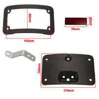 Aftermarket free shipping motorcycle parts License Plate Mounting frame Kit For Harle Softail Deluxe FLSTN 2005 2014 BLACK