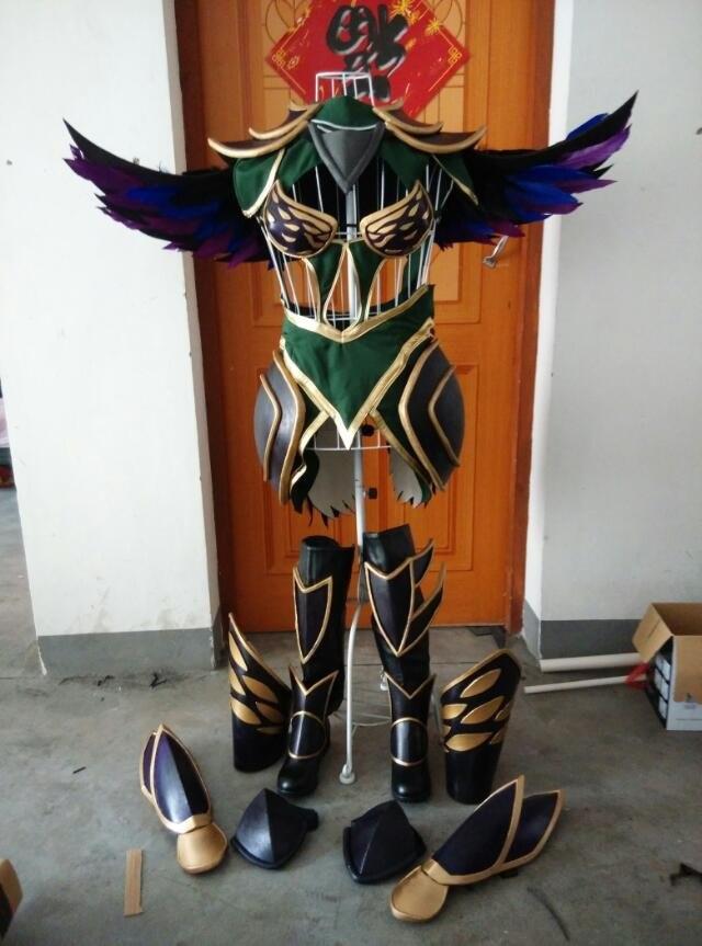 LOL Диана Темный богиня униформа косплей костюм Бесплатная доставка