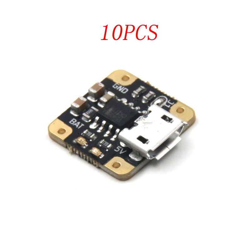 10PCS 3.7V 1S Lipo Charger Board Module 0.5A 1A Mini Charging Plate Micro USB DIY Parts for RC Boat/Aircraft Lithium Battery image