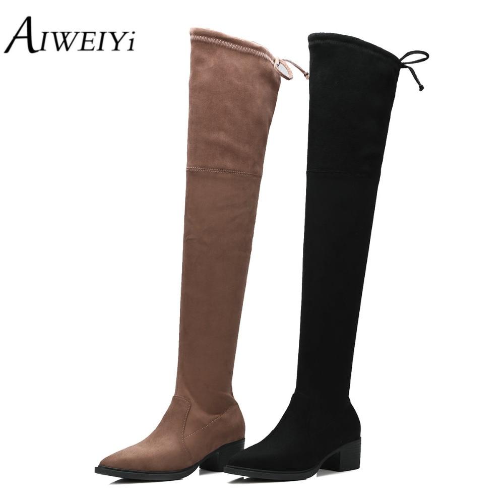 Online Get Cheap Thigh High Leather Boots for Women -Aliexpress ...