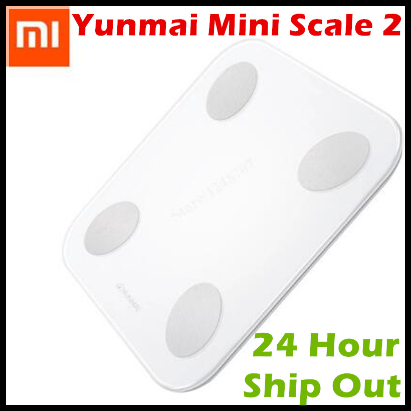 2017 New Xiaomi Fat Scale 2 Yunmai Mini Scale 2 Bluetooth 4.0 LED Display Original Xiaomi Mi Haoyou Scale 2 For Android iOS APP  цены