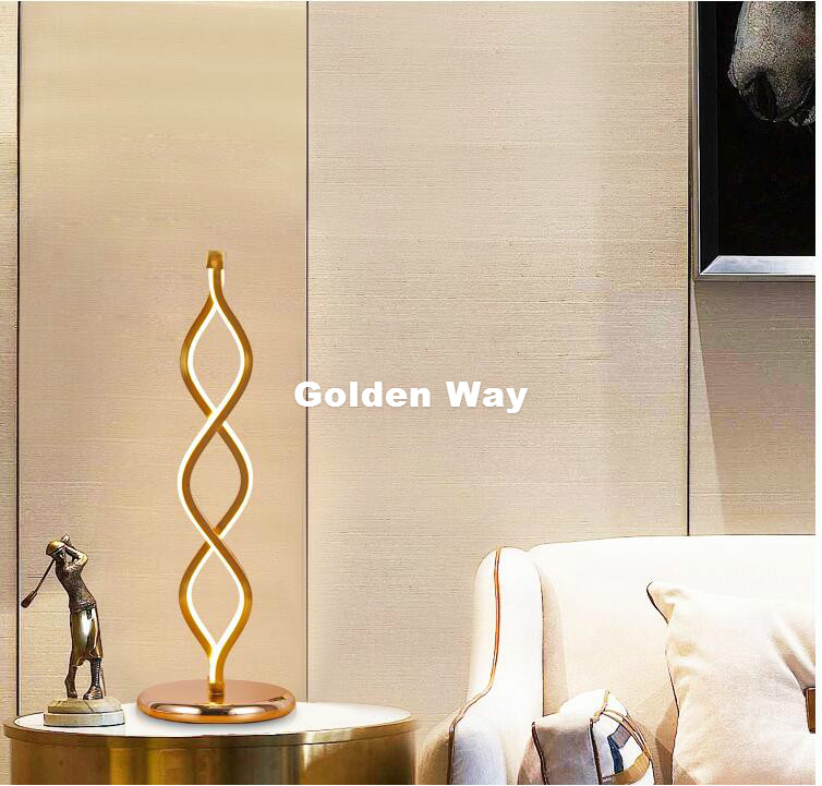 Nordic Aluminum Table Lamp Bedroom Bedside Creative Wedding Room Nordic Sprial LED D15cm H45cm 20W Table Lamp 100% Guaranteed 2016 new mediterranean lighthouse led lamp children s room bedroom lamps creative bedside table lamp