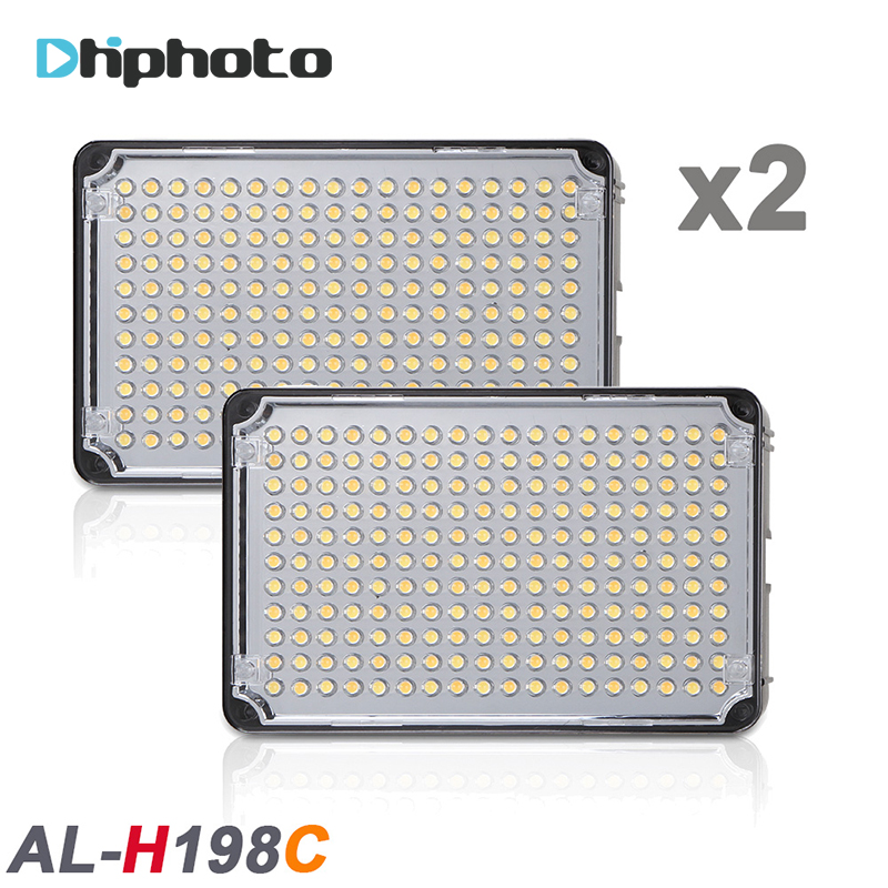 2PCS High CRI 198 LED Video Light Aputure Amaran H198C Light for Camcorder with Free Portable
