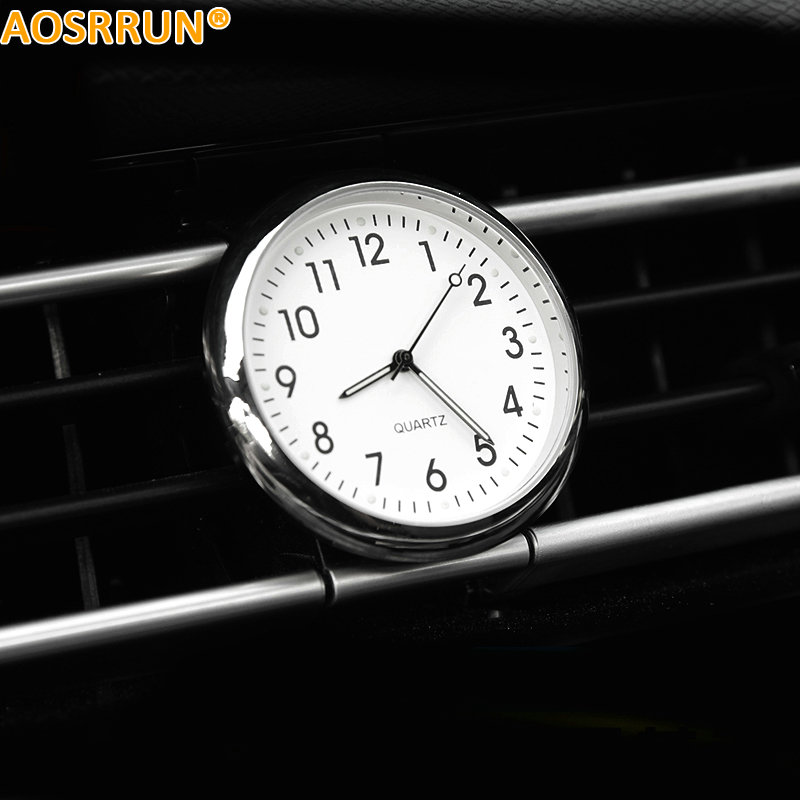 AOSRRUN Quartz Digital Car Clock Car Accessories For Peugeot 207 206 308 508 408 3008 2008 307 4008 Car-Styling