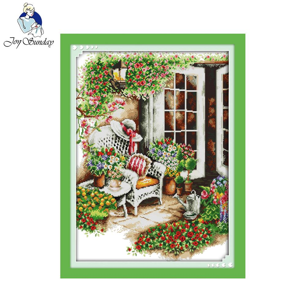 Joy Sunday 11CT 14CT Free Delivery Comfortable Frontage Pattern Stamped Counted Cross Stitch Kit Cross Stitch Set Embroidery Kit image