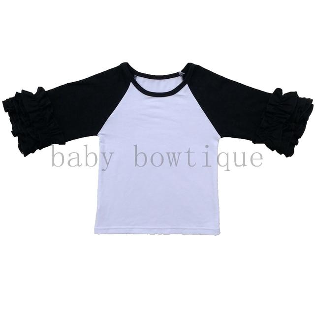 989e9ba9699 Icing Ruffled raglan toddler three quarter shirt