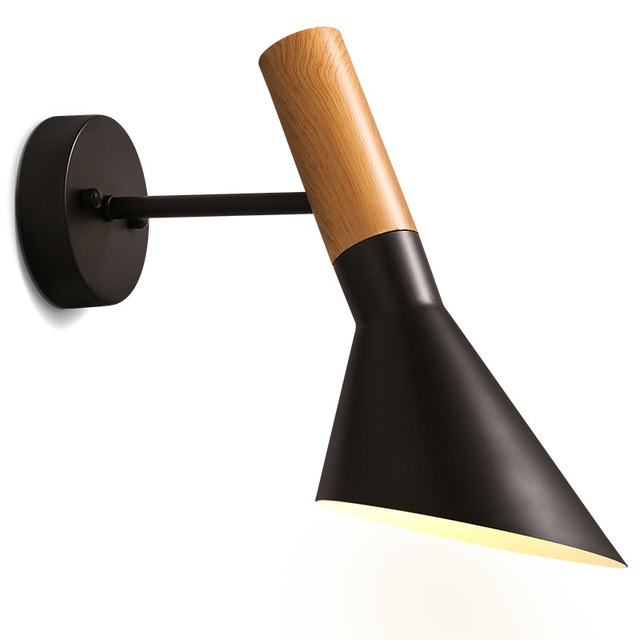 Art deco led wall lights metal modern lighting fixtures surface mounted led wall lamp vintage for bedroom Black&white 110V 220V