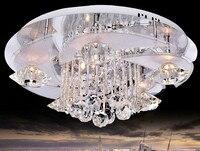 Современный Романтический светодиодный K9 хрустальный потолочный светильник для гостиной с дистанционным управлением потолочный светильн...
