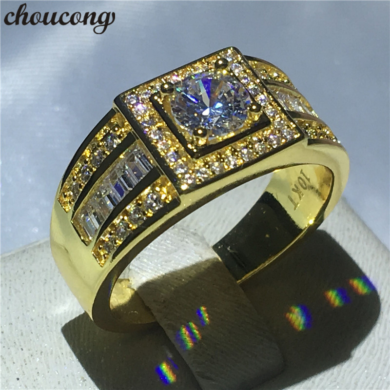 Buy mens wedding bands yellow gold and free shipping on