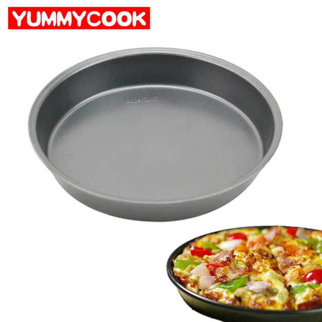 24cm Iron Round Bread Cake Mold Pizza Pan Dessert Mould Baking pastry Tool Kitchen Dining Bar Bakeware Accessories Supplies