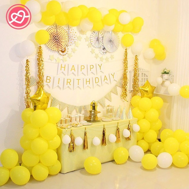 1 Set Wedding Birthday Party Decoration Balloon Backdrop Gold Tissue
