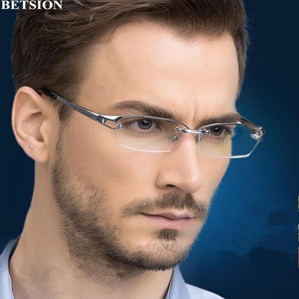 Super Luxury Pure Titanium Reading Glasses Half Rimless +50 +75 +100 +125 +150 +175 +200 +250 +3 +350 +375 +400 +425 Top Quality
