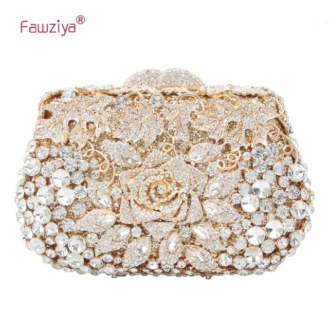 427ef80ec Fawziya Rose Metallic Clutch Purses And Handbags For Womens Evening Bags
