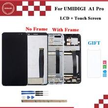 """Цветной для UMI Umidigi A1 Pro ЖК дисплей и сенсорный экран с рамкой 5,5 """"аксессуары для телефонов UMI Umidigi A1 Pro + пленка"""