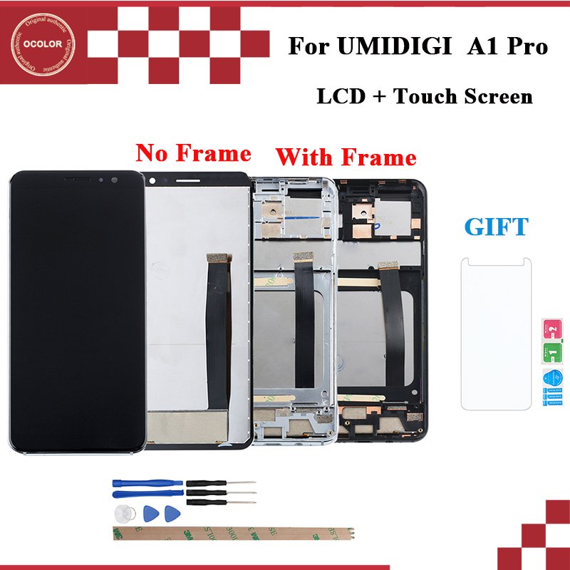 """ocolor For UMI Umidigi A1 Pro LCD Display and Touch Screen With Frame 5.5"""" Phone Accessories For UMI Umidigi A1 Pro+FilmMobile Phone LCD Screens   -"""
