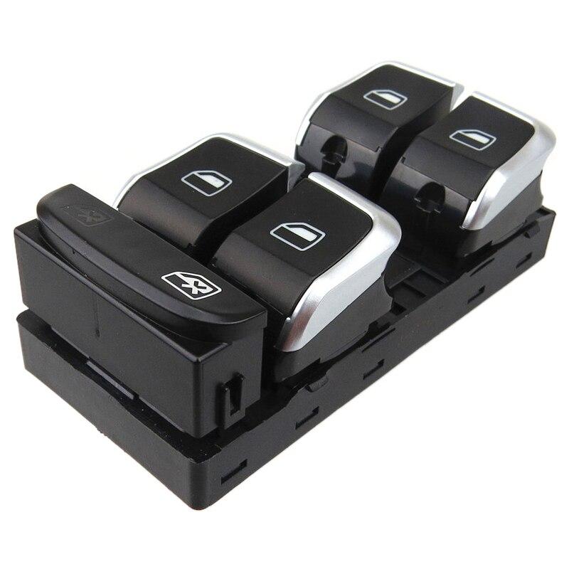 Otomobiller ve Motosikletler'ten Akıllı Pencere Kapatıcı'de Krom sürücü yan elektrikli ana pencere kontrol düğmesi anahtarları Audi A4 S4 Q5 B8 8Kd959851A title=