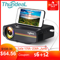 ThundeaL YG400 up YG400A Mini Projector 1800 Lumen Wired Sync Display More stable than WiFi Beamer Movie AC3 HDMI VGA Projector