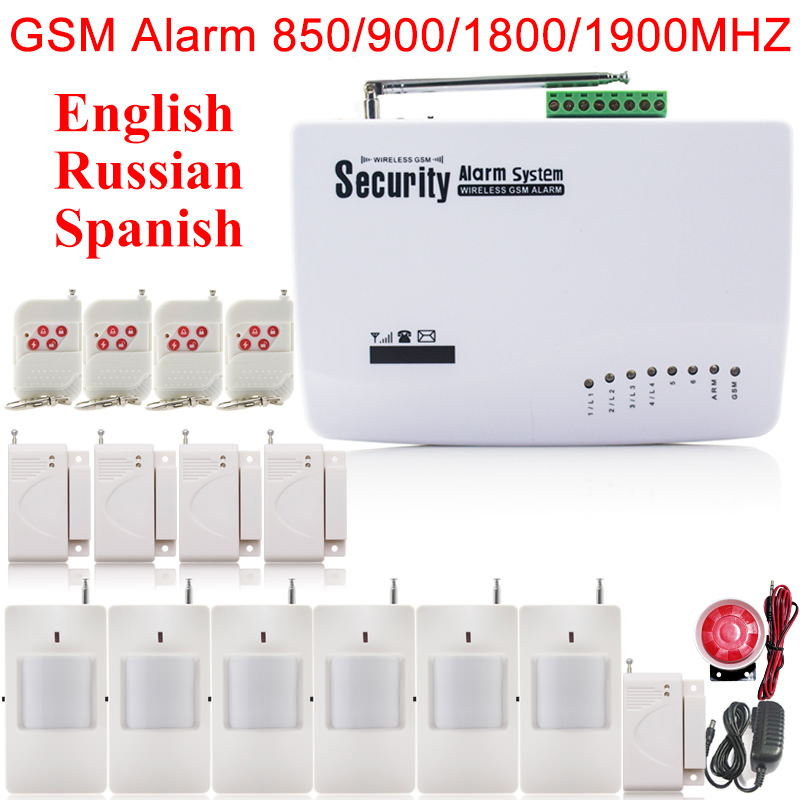 GSM01 Wireless wired Phone SIM GSM Home Burglar font b Security b font GSM Alarm System