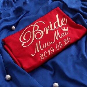 Image 3 - Jrmissli Gepersonaliseerde Bruid Gewaad Team Vrouwen Custom Wedding Badjas Vrouwelijke Satijn Zijde Bruidsmeisje Gewaden Voor Vrouwen Bruids Gewaden