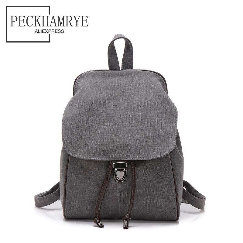 2018 Brand Backpack Canvas School Backpacks Schoolbags for Teenage Girls Student Flower solid color Back Pack Travel Bag