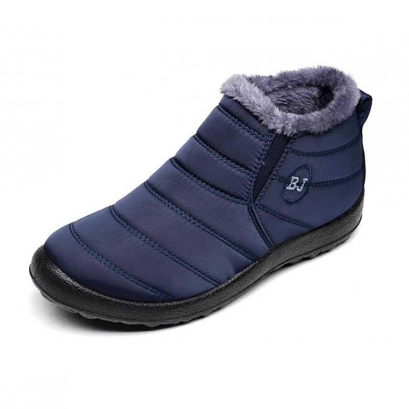 2019 Nieuwe laarzen vrouwen Winter sneeuw laarzen Winter Laarzen Vrouwen Vrouwelijke schoenen Warm Pluche Antislip Bodem Thermische Waterdichte Unisex