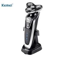 Kemei Electric Shaver 3 in 1 Multi functional Waterproof Razor Washable Rotary Four Segment Waterproof Smart Men's Face Care