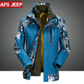 M~4XL Winter Jacket Men Warm Parka Coats Two In One Jackets Plus Liner 2PCS Waterproof Windproof Windbreaker Men/Male CF012