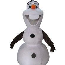 Новейший теплый маскарадный костюм Олаф С смайликом для взрослых; одежда для косплея на заказ;
