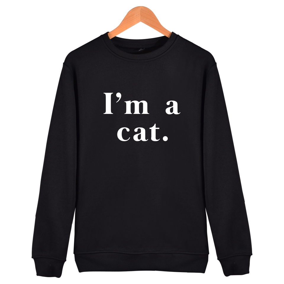 BTS Im a cat printing Sweatshirt Men and Women Winter Capless Women Hoodies Fashion trend Sweatshirt XXS-4XL Super Clothes