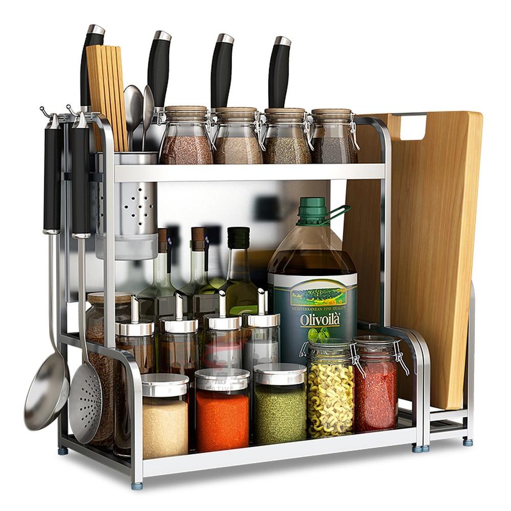 304 stainless steel kitchen rack wall hanging floor double knife holder supplies storage seasoning spice rack wx8151659 стикеры для стен oem 12 6big 6 3d diy no