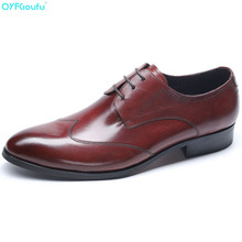 Brand Designer Men Dress Shoes Genuine Leather Office Business Wedding Handmade Formal Pointed Toe Oxfords Mens Shoe цены онлайн