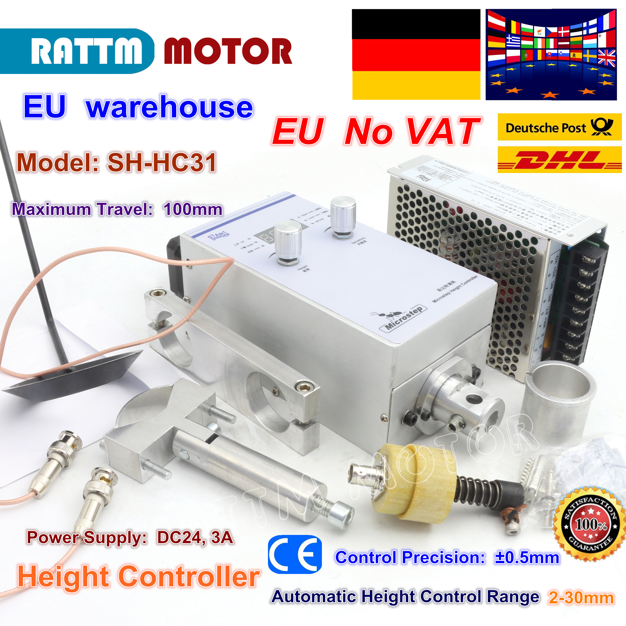 DE SH-HC31 capacidade altura tensão do Arco Elétrico Automático controlle DC24V NEMA17 motores de passo para CNC máquina de corte Plasma