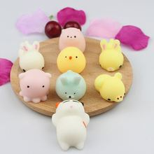 Slow Rising Squeeze Stretchy Bread Cake Kids Toy Small Pendant Kawaii Mini Seal Lion/sheep/rabbit/chick Soft Press Squishy(China)
