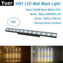 цены на Free Shipping 12X3W Led Bar Wall Wash Light DMX Controller Washer Led Outdoor Flood Light DJ Bar Party Show Stage Light Led Dj  в интернет-магазинах