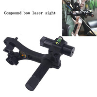1pc Archery Compound Bow Red Laser Sight Light Aluminum Center Laser Optical Micro Optic Sight 360 Degree Rotating