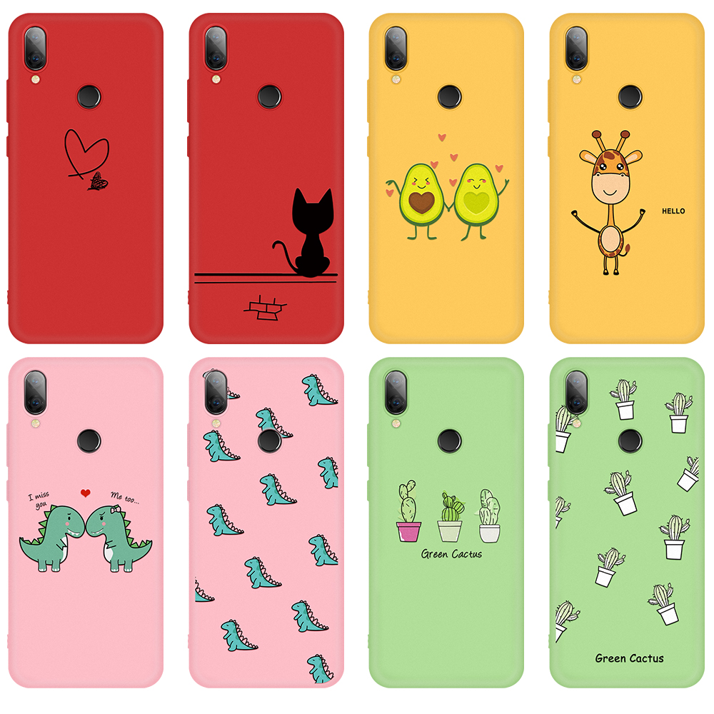 Lovely Cartoon Painted TPU Case For Xiaomi Redmi Note 7 5 8 Pro 6 6A 7A Silicone Matte Soft Phone Cover For Redmi 7 6 Pro 8 Capa